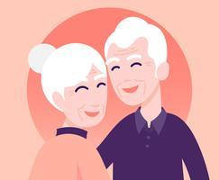 Illustration des grands-parents vecteur