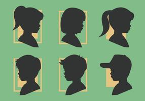 Collection de silhouettes pour enfants vecteur