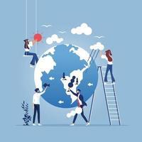 sauver la planète. concept de protection de l'environnement vecteur