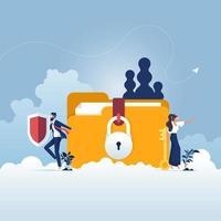protection des fichiers concept de sécurité et de confidentialité des données vecteur