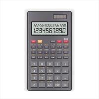 calculatrice numérique électronique vecteur