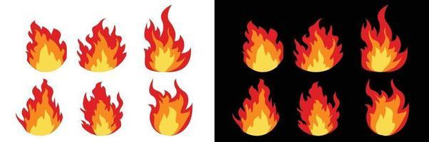 conception de vecteur de flammes de feu