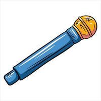 style de bande dessinée de microphone à main vecteur