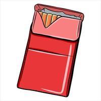 un paquet de style de bande dessinée de cigarettes vecteur