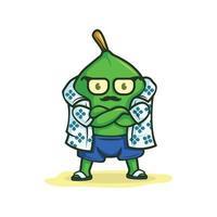 personnage de mascotte de chaux sur l & # 39; illustration vectorielle de plage vecteur
