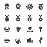 icônes de gagnant signent illustration vectorielle vecteur
