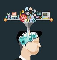 vecteur de concept idée cerveau créatif