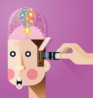 vecteur de concept de cerveau créatif