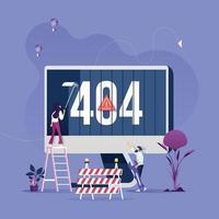 Page d'erreur du concept 404 ou fichier introuvable pour la page Web vecteur
