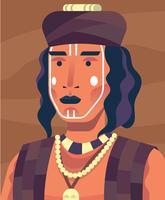 Illustration des peuples autochtones vecteur