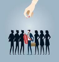 choisir le meilleur candidat. vecteur de concept d & # 39; entreprise