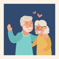 Illustration vectorielle de grands-parents heureux