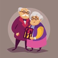 les grands-parents vecteur