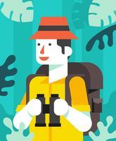 illustration des explorateurs de la jungle vecteur