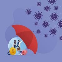 concept d & # 39; assurance contre la pandémie de coronavirus vecteur