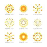 collection de logo soleil vecteur