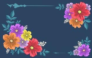 fleurs tropicales colorées vecteur