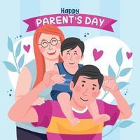 concept de jour de parents heureux vecteur