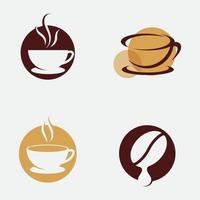 logo de tasse de café conception dicône de vecteur de café