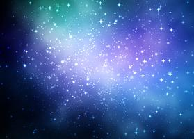 Abstrait coloré de galaxie vecteur