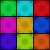 Bande dessinée colorée abstraite définie vector background
