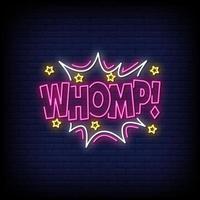 vecteur de texte de style enseignes au néon whomp