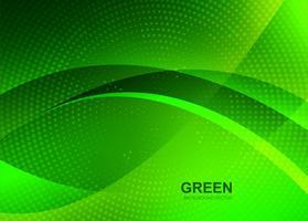Abstrait vert belle vague fond vecteur