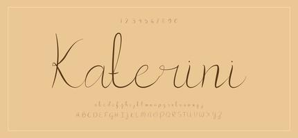 polices d'alphabet de polices créatives de signature vecteur