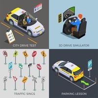 illustration vectorielle de conduite test design concept vecteur