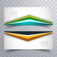 Abstrait créatif coloré brillant bannières défini vecteur