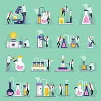 illustration vectorielle d & # 39; icônes plates de laboratoire scientifique vecteur