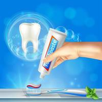 illustration vectorielle réaliste de soins dentaires dent vecteur