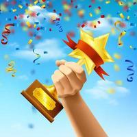 prix du gagnant illustration vectorielle réaliste illustration vecteur