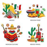illustration vectorielle de mexique culture concept vecteur