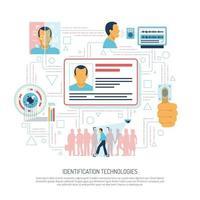illustration vectorielle de fond approbation identité personnelle vecteur