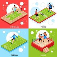 illustration vectorielle de terrain de sport terrain ring concept vecteur