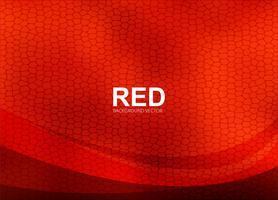 Vecteur de fond ondulé rouge abstrait