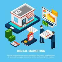 illustration vectorielle de marketing numérique concept vecteur