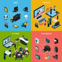illustration vectorielle de photo vidéo design concept vecteur