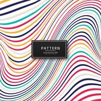 Abstrait coloré lignes élégantes vecteur