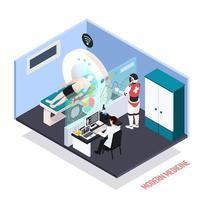 illustration vectorielle de technologies médicales composition isométrique vecteur