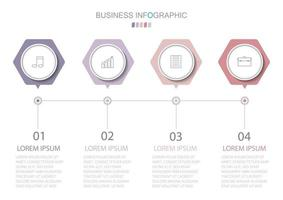 modèle infographique en 4 étapes modèle pour la présentation graphique de diagramme et le graphique vecteur