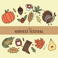 Affiche du Festival de la récolte vecteur