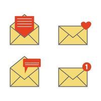 jeu d & # 39; icônes de courrier vecteur