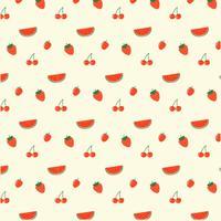 Motif de fruits rouges