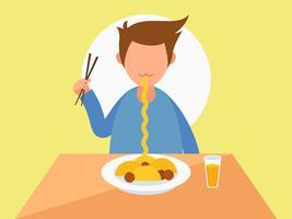 Personnes exceptionnelles mangeant dans les vecteurs de restaurants vecteur