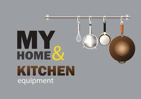 équipement de cuisine à domicile vecteur