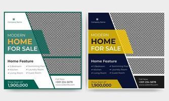publication sur les médias sociaux de l'immobilier vecteur