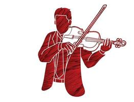 orchestre de musicien joueur de violon vecteur