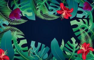fond de fleurs tropicales vecteur